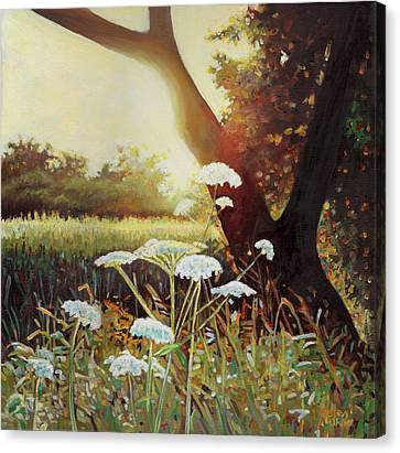 Golden Hedgerow Canvas Print by Helen White