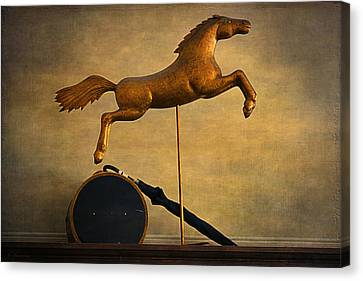 Golden Horse Canvas Print by Maria Angelica Maira