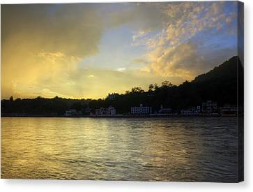 Golden Hour - Rishikesh Canvas Print by Rohit Chawla
