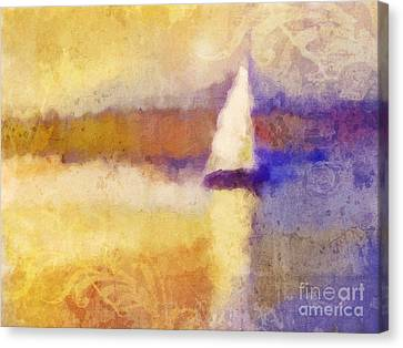 Golden Hour Sailing Canvas Print by Lutz Baar