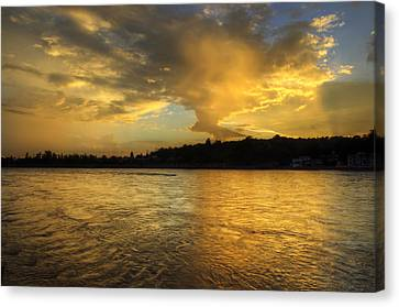 Ganges Canvas Print - Golden Hours - Rishieksh by Rohit Chawla