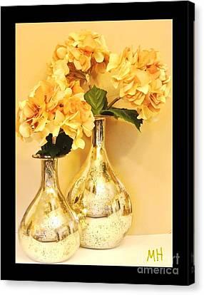 Golden Hydrangia Canvas Print by Marsha Heiken