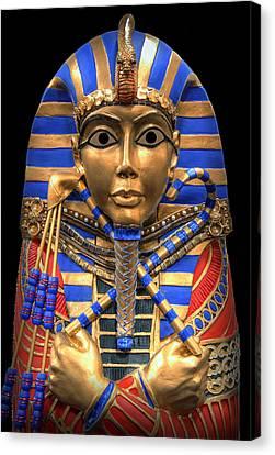 Golden Inner Sarcophagus Of A Pharaoh Canvas Print