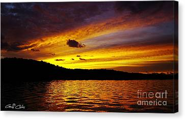 Golden Island Sunrise.  Canvas Print by Geoff Childs