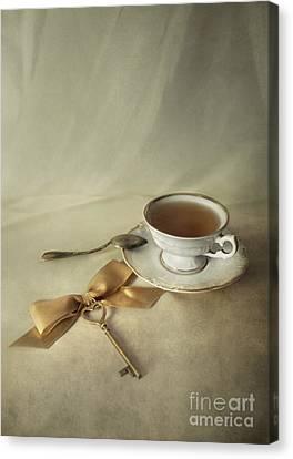 Silver-filled Canvas Print - Golden Key by Jaroslaw Blaminsky