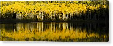 Golden Lake Canvas Print by Chad Dutson