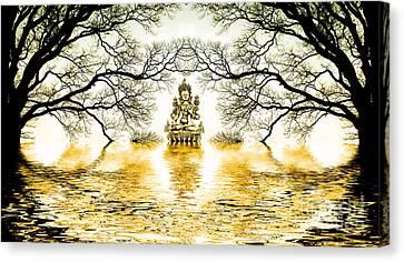 Bodhisattva Canvas Print - Golden Lake Of Stillness  by Tim Gainey