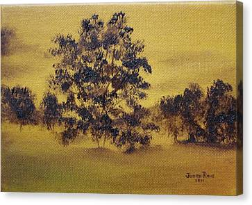 Golden Landscape Canvas Print by Judith Rhue