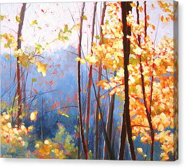 Golden Leaves Canvas Print by Carlynne Hershberger