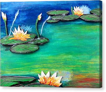 Golden Lillies Canvas Print