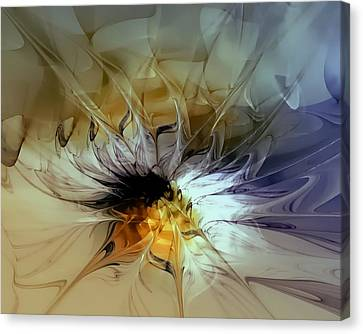 Golden Lily Canvas Print by Amanda Moore