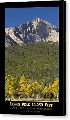 Golden Longs Peak 14259 Poster Canvas Print by James BO  Insogna