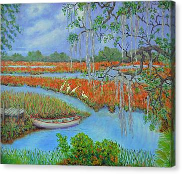 Golden Marsh 2 Canvas Print