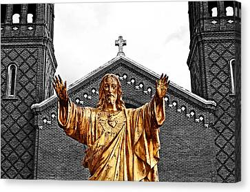 Golden Messiah Canvas Print by Andy Crawford