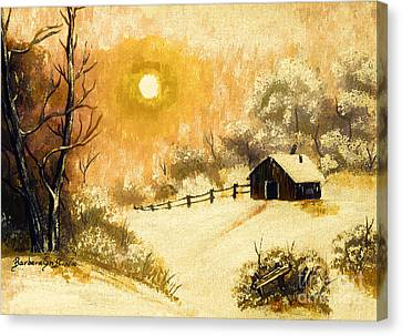 Golden Morning Canvas Print by Barbara Griffin