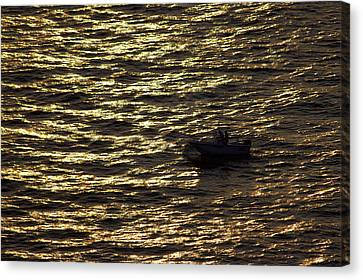 Canvas Print featuring the photograph Golden Ocean by Miroslava Jurcik