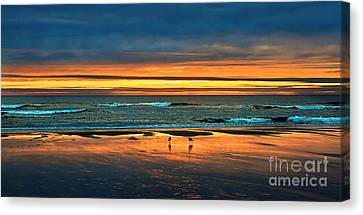 Golden Pacific Canvas Print by Robert Bales