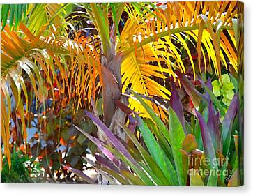 Canvas Print featuring the photograph Golden Palm 2 by Darla Wood