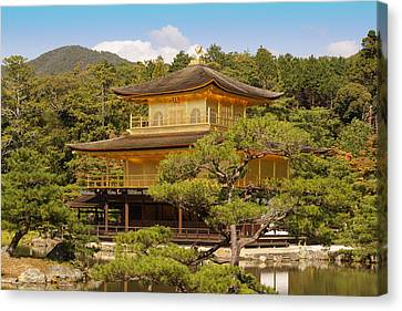 Canvas Print featuring the photograph Golden Pavilion by Cassandra Buckley