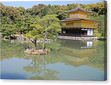 Golden Pavilion Canvas Print by Jonah  Anderson
