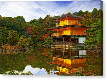 Golden Pavilion Canvas Print