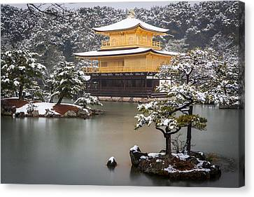 Golden Pavillion Canvas Print