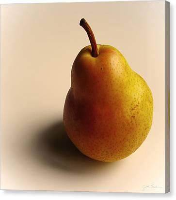 Golden Pear Canvas Print by Julie Magers Soulen