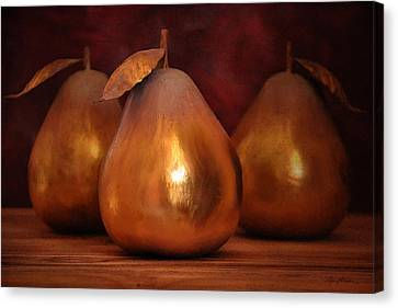 Golden Pears I Canvas Print by April Moen