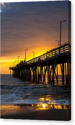 Canvas Print featuring the photograph Golden Pier by Dawn Romine