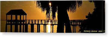 Canvas Print featuring the photograph Golden Pier Panorama by Richard Zentner