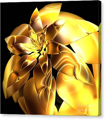 Golden Pineapple By Jammer Canvas Print by First Star Art