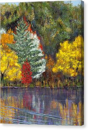 Canvas Print featuring the painting Autumn Tapestry by Margaret Bobb
