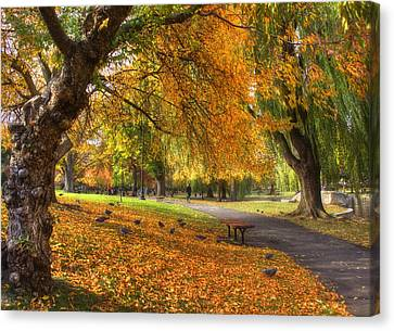 Golden Public Garden Canvas Print
