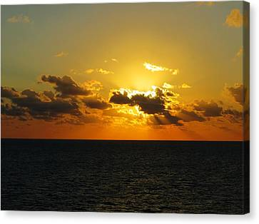 Canvas Print featuring the photograph Golden Rays Sunset by Jennifer Wheatley Wolf
