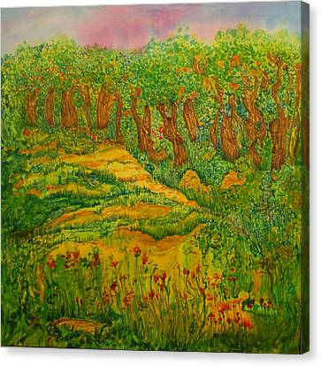 Canvas Print featuring the painting Everyday-a New Beginning by Susan D Moody