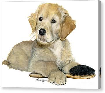 Golden Retriever Puppy Canvas Print by Liane Weyers