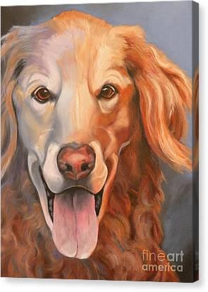 Golden Retriever Till There Was You Canvas Print by Susan A Becker