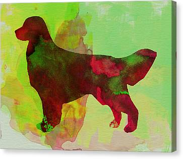 Golden Retriever Watercolor Canvas Print by Naxart Studio