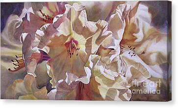 Golden Rhododendronfull Canvas Print by Sharon Freeman