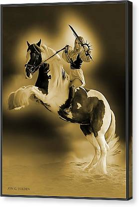 Golden Rider Canvas Print