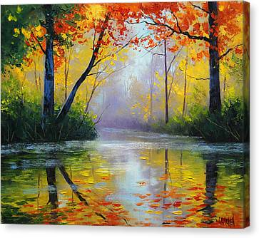 Maple Canvas Print - Golden River by Graham Gercken