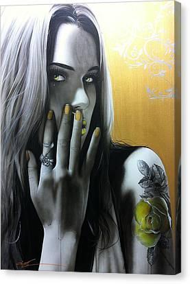 Portrait - ' Golden Rose ' Canvas Print
