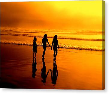 Canvas Print featuring the photograph Golden Sands  by Micki Findlay