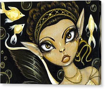 Golden Sea Princess Canvas Print by Elaina  Wagner