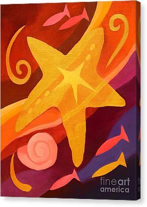 Golden Sealife Canvas Print by Lutz Baar