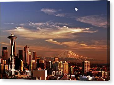 Golden Seattle Canvas Print by Darren  White