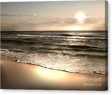 Golden Shoreline Canvas Print by Jeffery Fagan