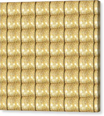 Golden Sparkle Biscuits Pattern Unique Graphic V3 Canvas Print by Navin Joshi