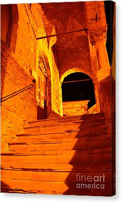 Golden Stairs Canvas Print by Ramona Matei