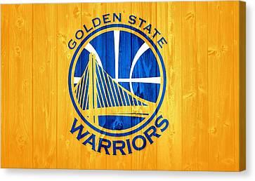 Golden State Warriors Barn Door Canvas Print